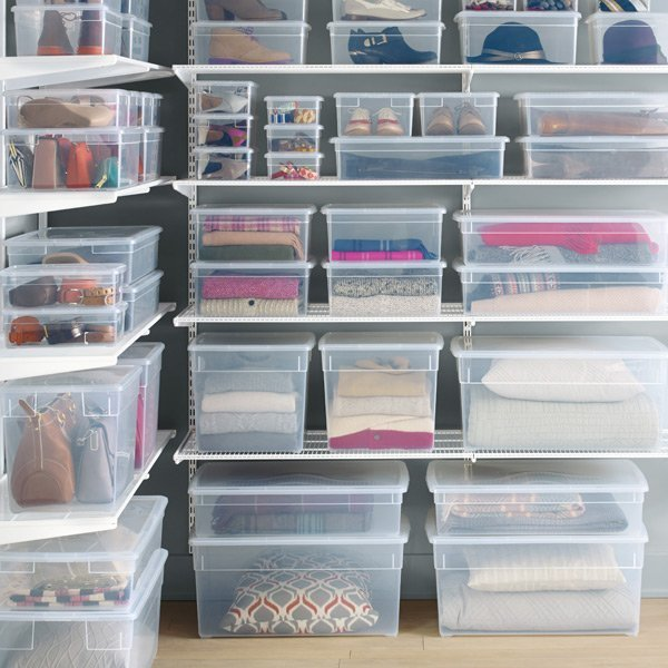 Clear storage containers. Great gift ideas for artists.