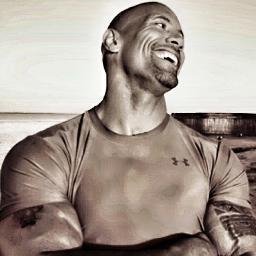 sexy men with no hair - Dwayne Johnson